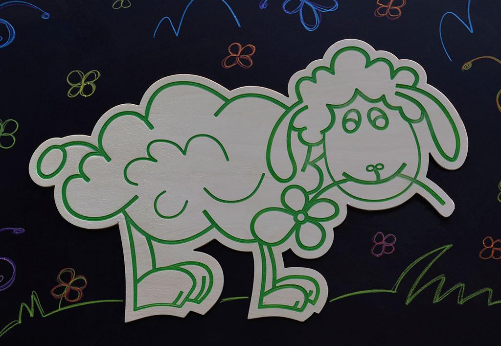 Stiker za zid Ovčica