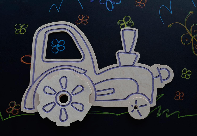 Stiker za zid Traktor