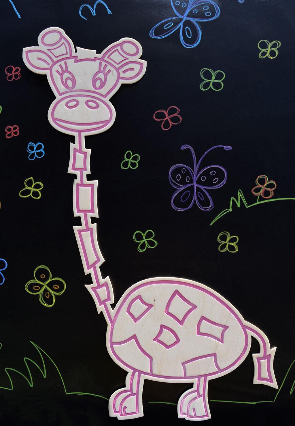Stiker za zid Žirafa